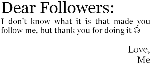 -Dear-Followers